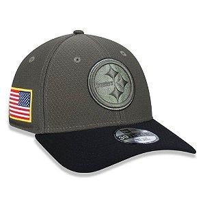 Boné Pittsburgh Steelers 3930 Salute to Service - New Era