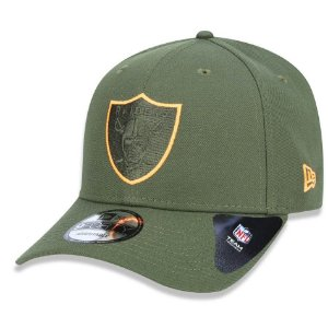 Boné Oakland Raiders 940 Military Orange Logo - New Era