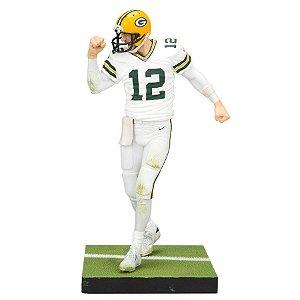 Boneco Player Figurine Aaron Rodgers 12 Green Bay Packers