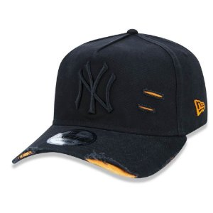 Boné New York Yankees 940 Cotton Damage Preto - New Era