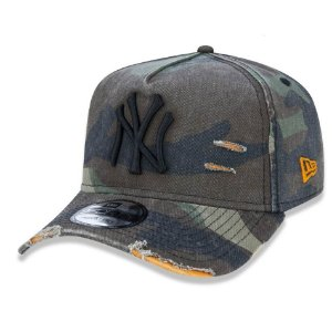 Boné New York Yankees 940 Cotton Damage Camuflado - New Era