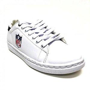 Tenis Sapatenis NFL Logo Branco