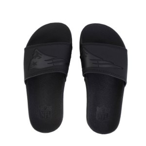 Chinelo New England Patriots Slip All Black - NFL