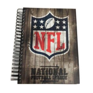 Caderno Team Wood NFL Logo