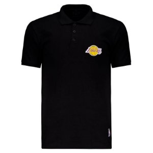 Camisa Polo Los Angeles Lakers Mini Logo - NBA