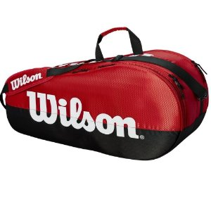 Raqueteira Wilson Team II 6 Pack Vermelha/Preta