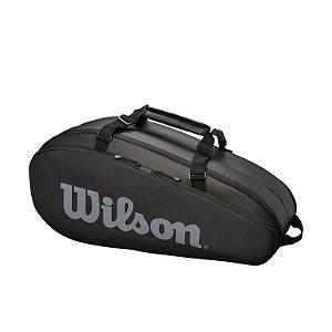 Raqueteira Wilson Esportiva Tour 2Comp 6 Pack Preta/Cinza