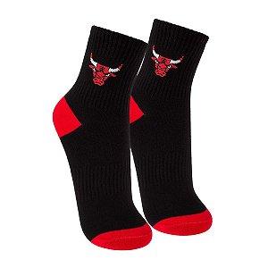 Meia NBA Chicago Bulls Cano Médio Bordado