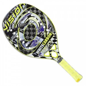 Raquete Beach Tennis White Carbon Uni.Ka - Vision