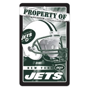 Placa Decorativa 18x30cm New York Jets