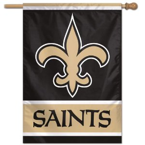 Bandeira Vertical 70x100 Logo Team New Orleans Saints