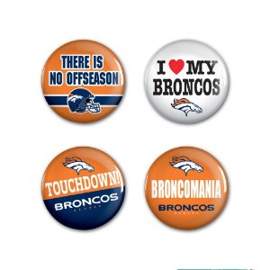 4 Bottons Pins Denver Broncos NFL