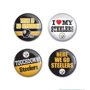 4 Bottons Pins Pittsburgh Steelers NFL