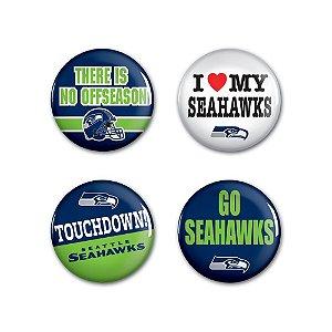 4 Bottons Pins Seattle Seahawks NFL