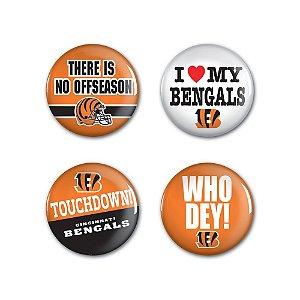 4 Bottons Pins Cincinnati Bengals NFL