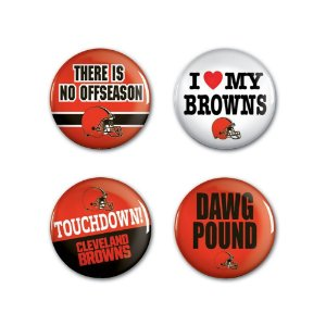 4 Bottons Pins Cleveland Browns NFL