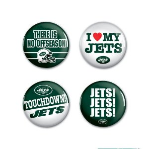 4 Bottons Pins New York Jets NFL