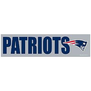 Adesivo Faixa Bumper Strip 30x7,5 New England Patriots
