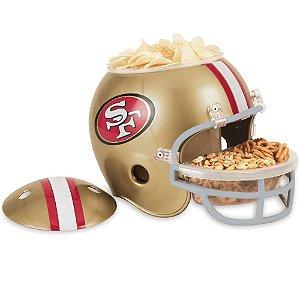 Capacete Snack Helmet Aperitivos GameDay San Francisco 49ers