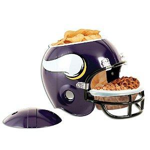 Capacete Snack Helmet Aperitivos GameDay Minnesota Vikings