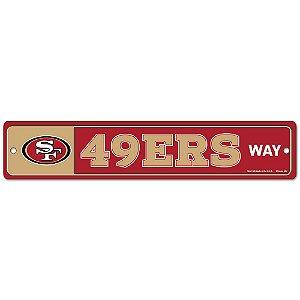Placa Street Zone Decoração 48cm San Francisco 49ers