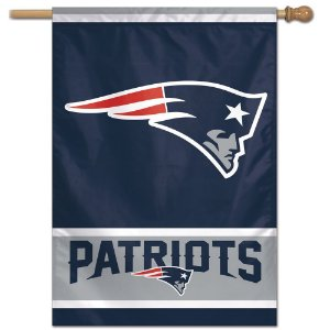 Bandeira Vertical 70x100 Logo Team New England Patriots