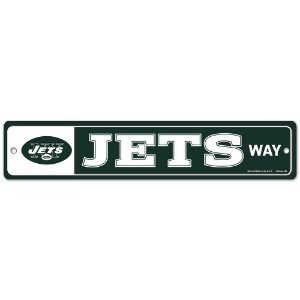 Placa Street Zone Decoração 48cm New York Jets