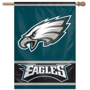 Bandeira Vertical 70x100 Logo Team Philadelphia Eagles