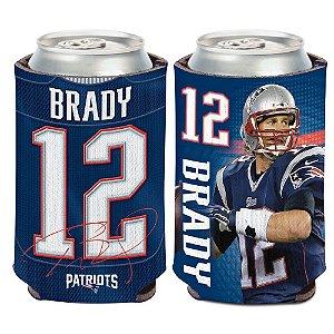 Porta Latinha Player Tom Brady New England Patriots