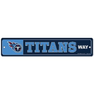 Placa Street Zone Decoração 48cm Tennessee Titans