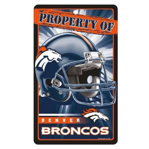 Placa Decorativa 18x30cm Denver Broncos NFL