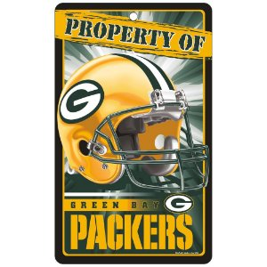 Placa Decorativa 18x30cm Green Bay Packers NFL