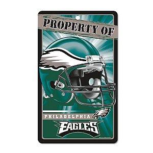 Placa Decorativa 18x30cm Philadelphia Eagles NFL
