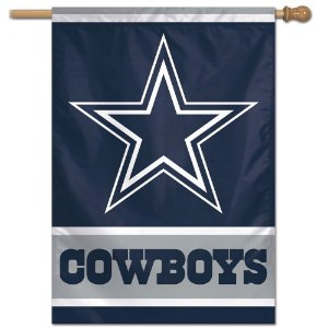 Bandeira Vertical 70x100 Logo Team Dallas Cowboys