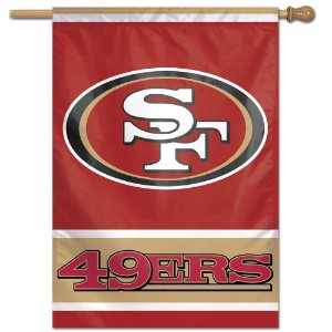 Bandeira Vertical 70x100 Logo Team San Francisco 49ers