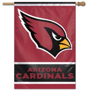 Bandeira Vertical 70x100 Logo Team Arizona Cardinals