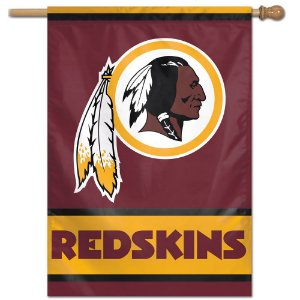 Bandeira Vertical 70x100 Logo Team Washington Redskins
