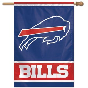 Bandeira Vertical 70x100 Logo Team Buffalo Bills