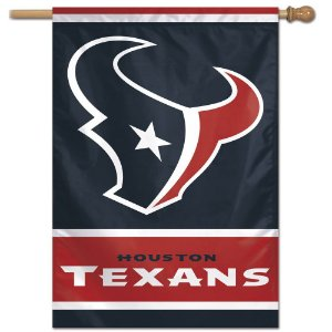 Bandeira Vertical 70x100 Logo Team Houston Texans