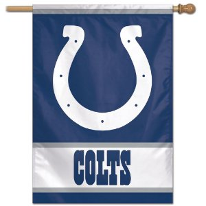 Bandeira Vertical 70x100 Logo Team Indianapolis Colts