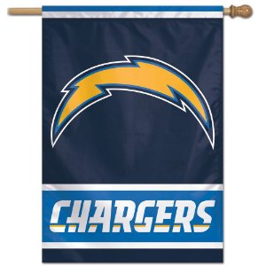 Bandeira Vertical 70x100 Logo Team Los Angeles Chargers