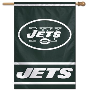 Bandeira Vertical 70x100 Logo Team New York Jets