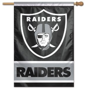 Bandeira Vertical 70x100 Logo Team Oakland Raiders