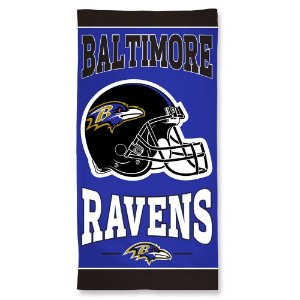 Toalha de Praia e Banho Standard Baltimore Ravens