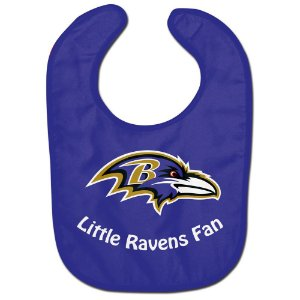 Babador Infantil Pequeno Fã Baltimore Ravens