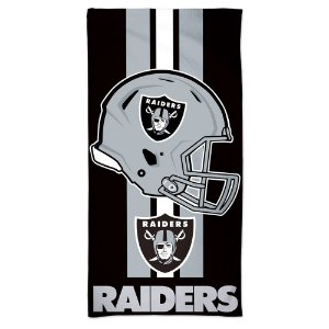 Toalha de Praia e Banho Standard Oakland Raiders