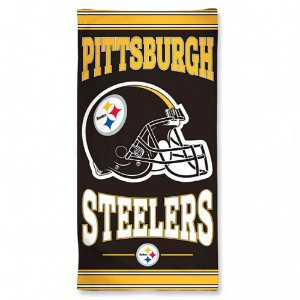 Toalha de Praia e Banho Standard Pittsburgh Steelers