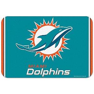Tapete Decorativo Boas-Vindas NFL 51x76 Miami Dolphins