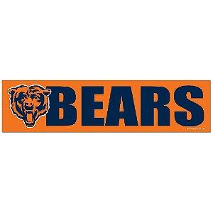 Adesivo Faixa Bumper Strip 30x7,5 Chicago Bears