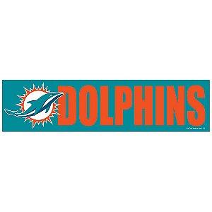 Adesivo Faixa Bumper Strip 30x7,5 Miami Dolphins